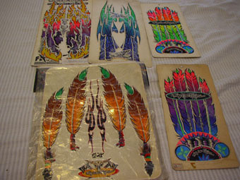 Troy Lee Designs Vintage Feather Sticker Kit Old
