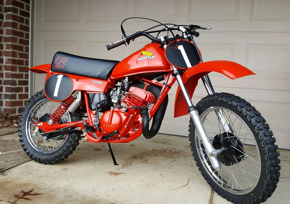 my dad 39 s restored 1980 cr80 moto related motocross. Black Bedroom Furniture Sets. Home Design Ideas