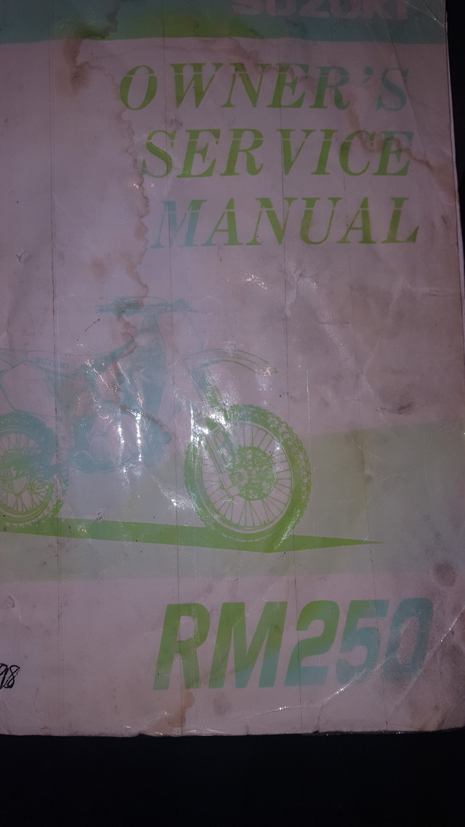 "Ive got a decent condition service manual (1998 rm250) to whomever wants it  . I think i can get it in one of those 5 dollar ""mail anywhere"" envelopes  lol."