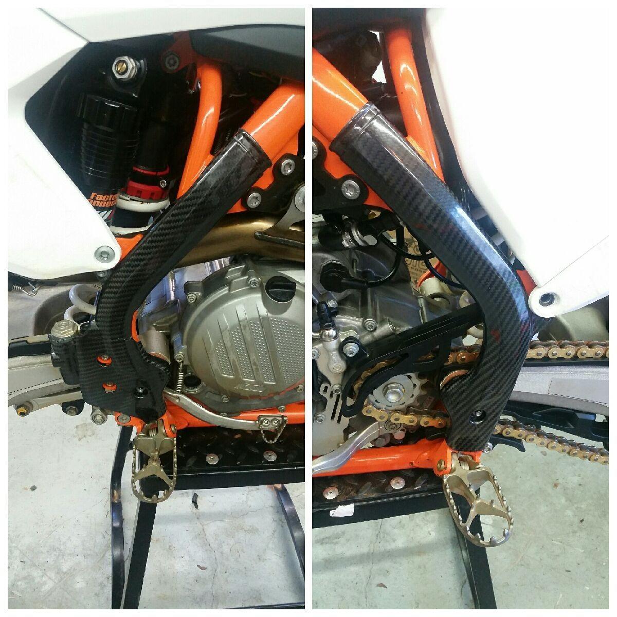 16-18 ktm sxf carbon fiber frame guards - For Sale/Bazaar ...