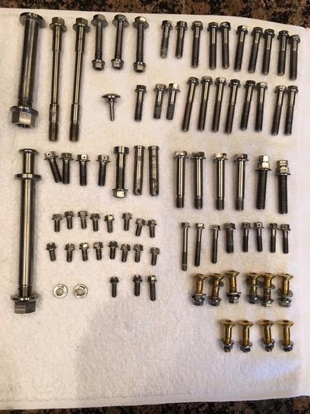 KTM Titanium and Aluminum Bolts - For Sale/Bazaar - Motocross Forums