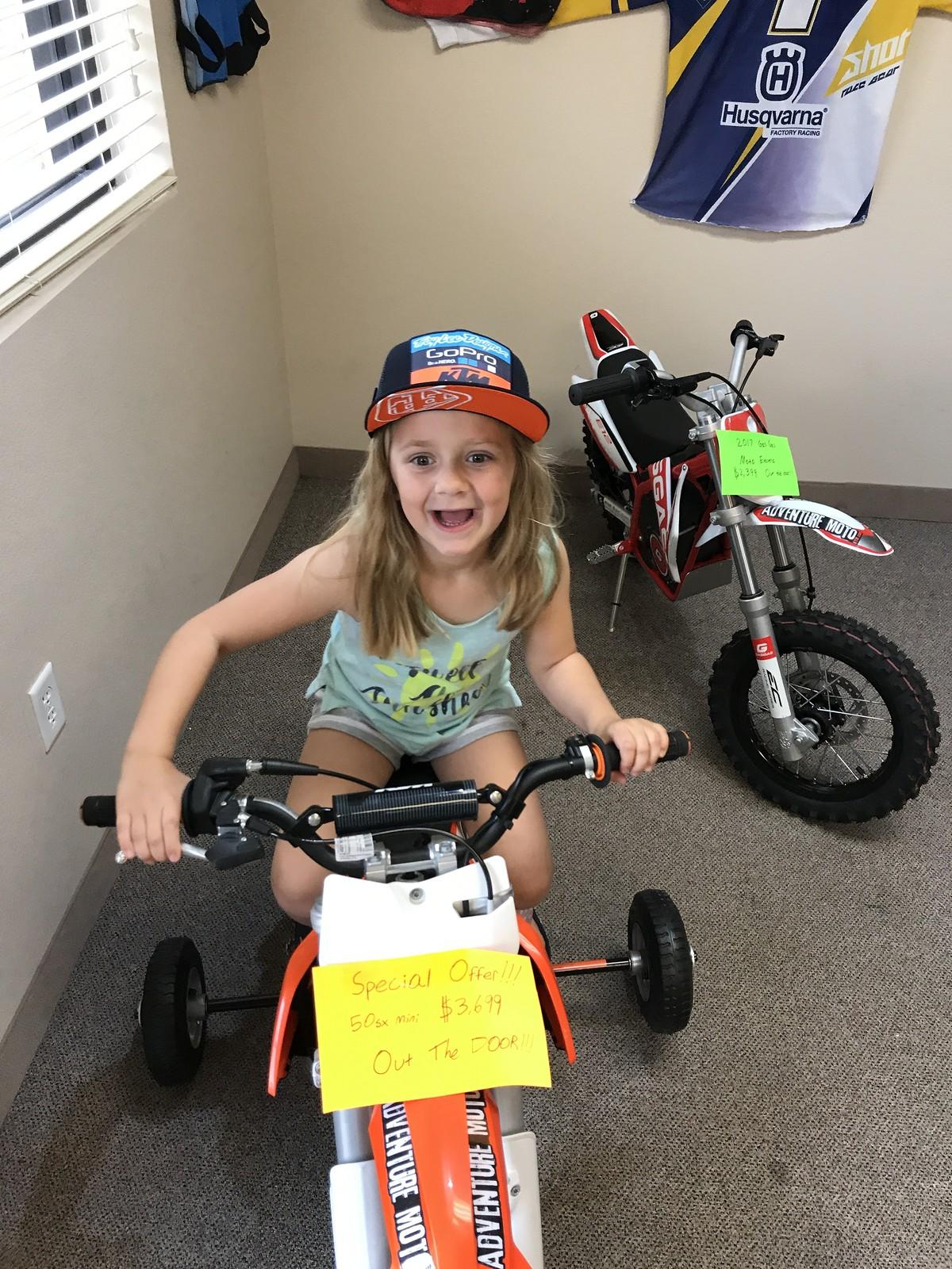 OT- KTM 50 jr vs SX for my little girl - Moto-Related