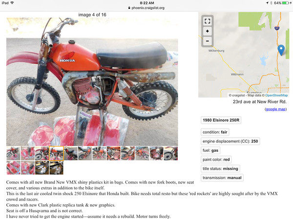 What's old 1980 CR250R worth? - Old School Moto - Motocross