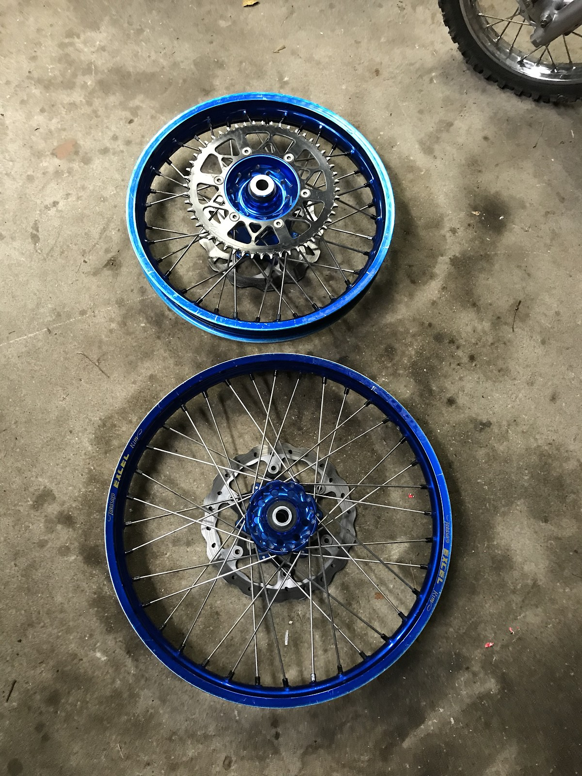 "Yamaha YZ250 Yz125 blue wheels 02-18 Excel rims 18"" 21"