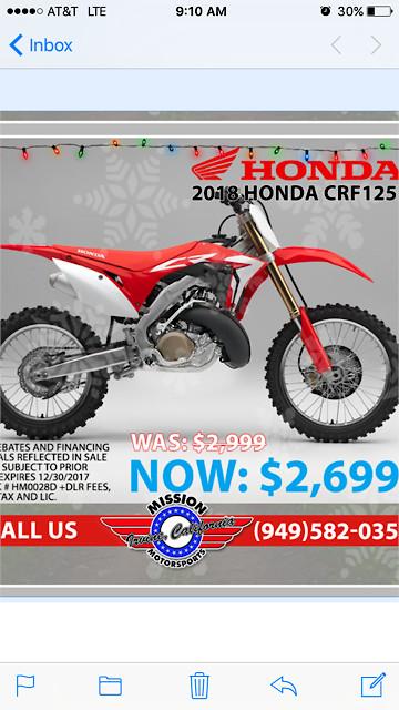 2018 honda 125 two stroke moto related motocross for 2018 honda 2 stroke
