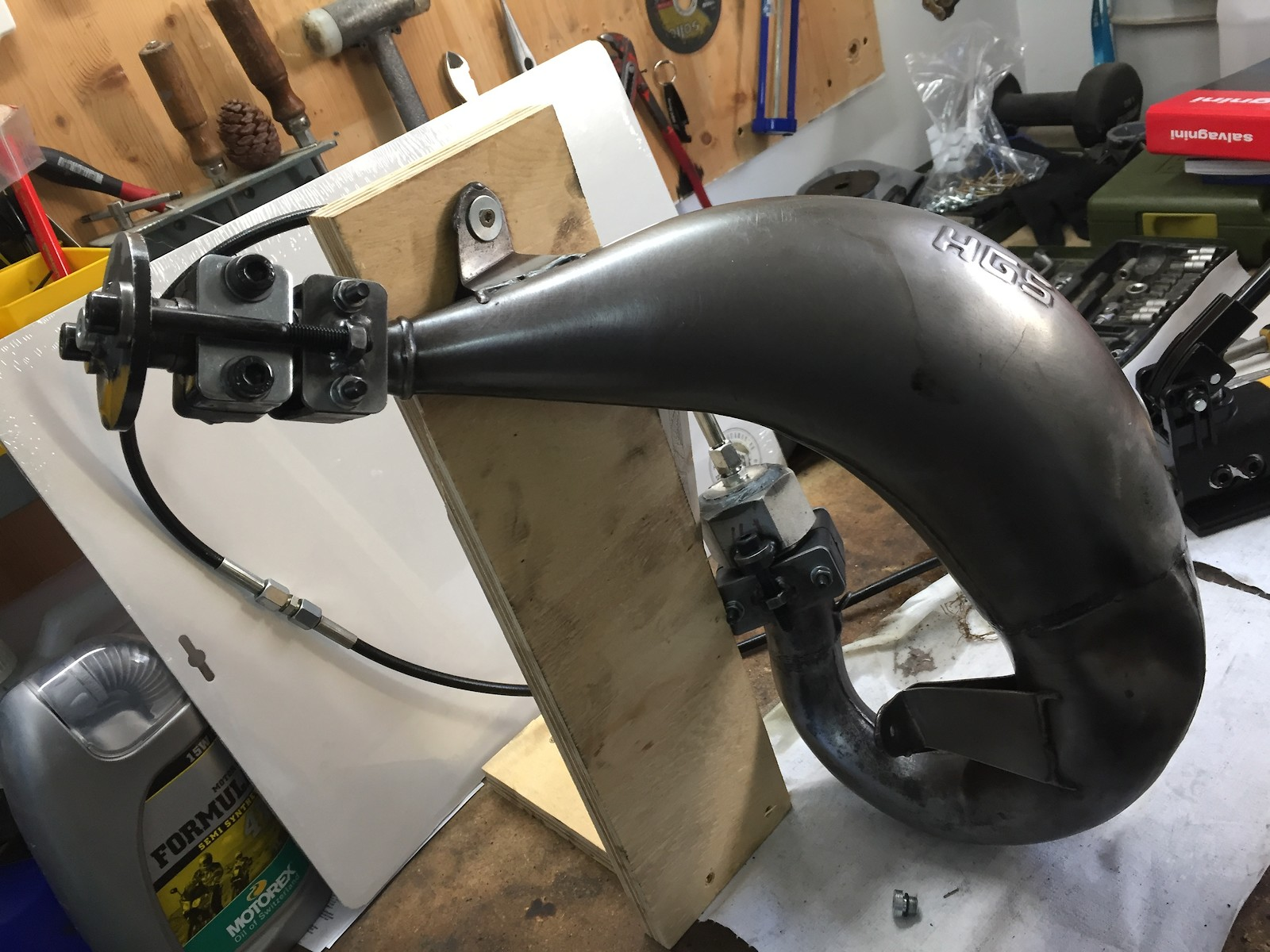 Two Stroke Pipe repair a different Way - Tech Help/Race Shop