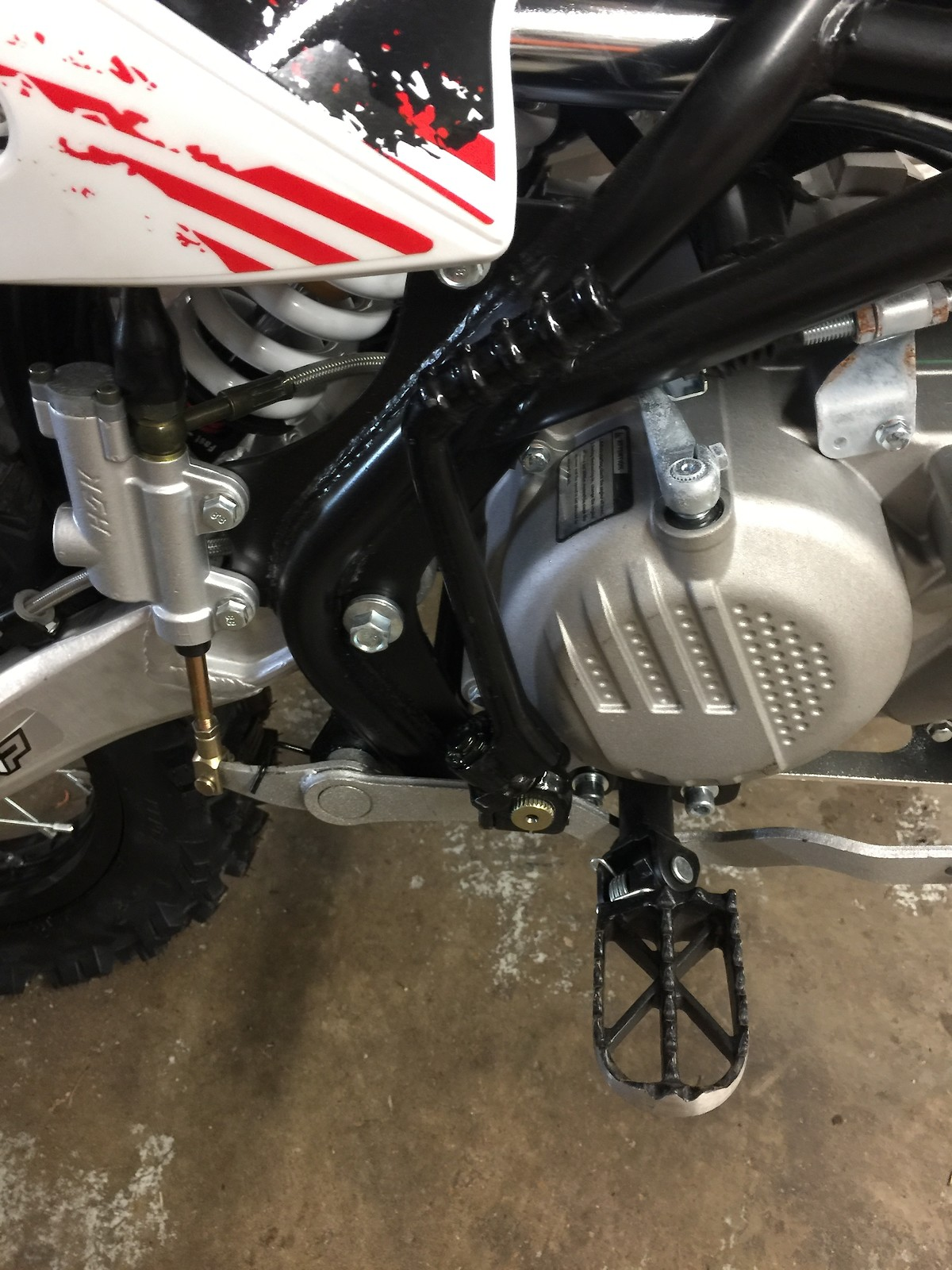 New To Pit Bikes 2018 Pitster Pro Lxr 190f Build Assembly Bike Ssr Wiring Diagram Find Latest Part This Kick Starter Tucks In Really Well