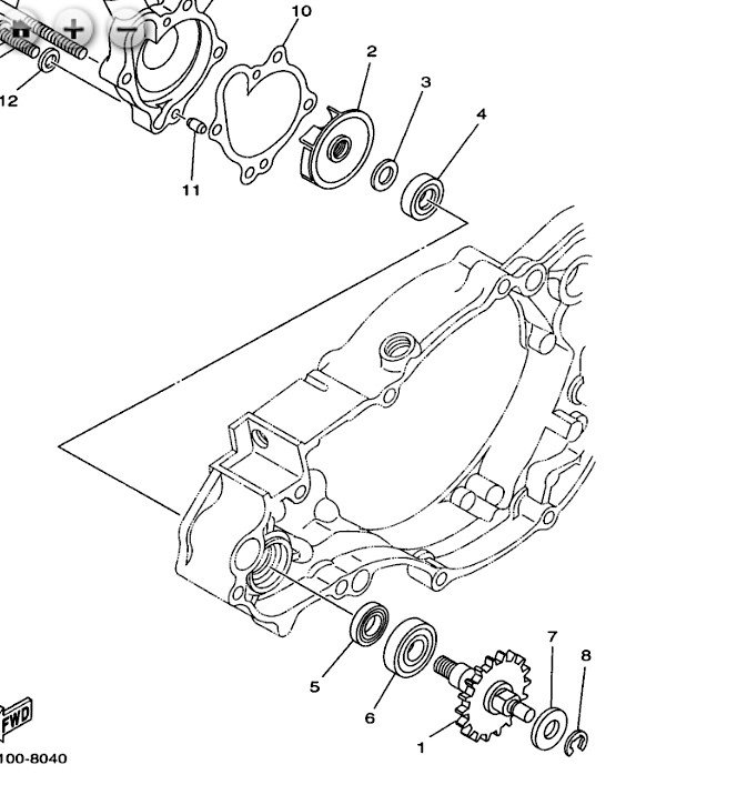 1995 yz250 water pump question tech help race shop motocross Water Tech LLC however in my bike the pump uses two seals and a bearing as shown in this diagram from a 1998 model