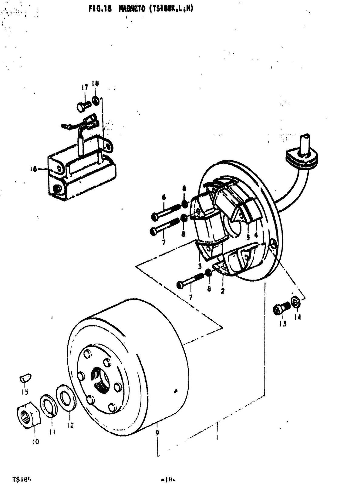 73 ts185k suzuki electrical info tech help race shop suzuki motorcycle wiring diagram suzuki motorcycle 6 volt wiring diagram