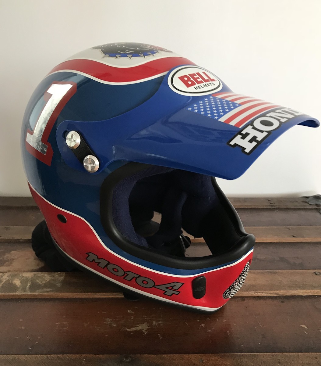 Rick Johnson Bell Moto 4 Replica Helmet 1987 Replica