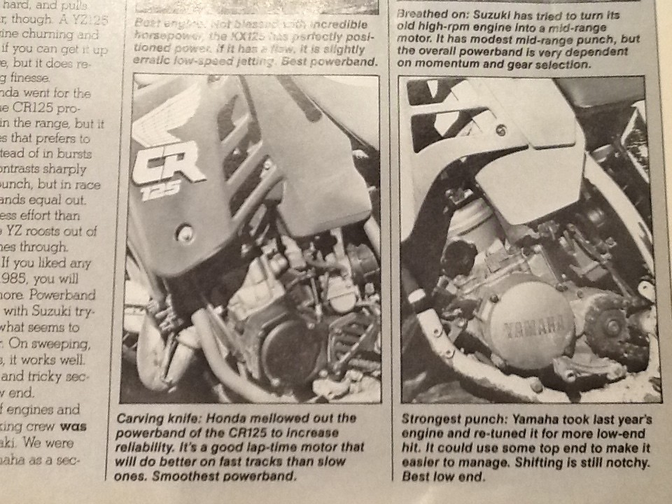 87 vs 88 CR125 - Old School Moto - Motocross Forums