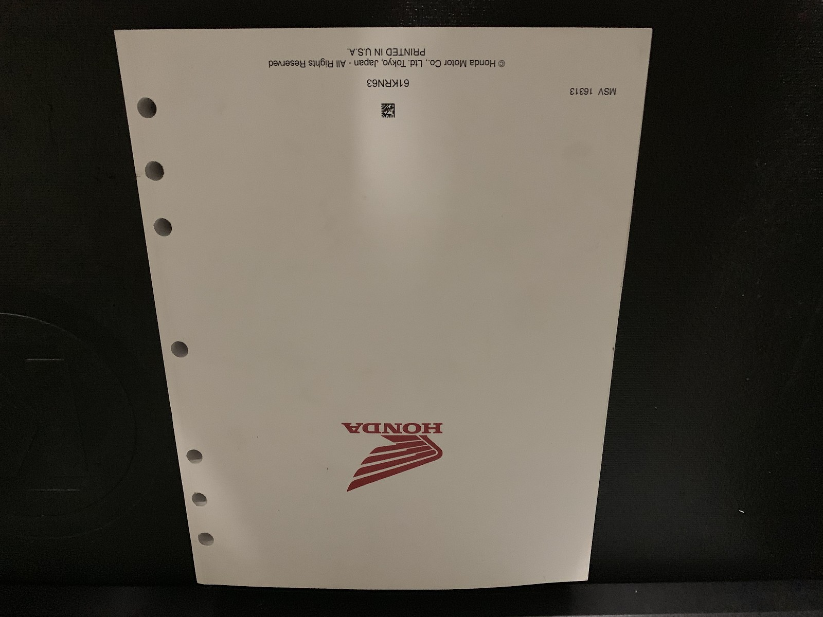 OEM Honda Service Manual 2014-2017 CRF250R (Big detailed
