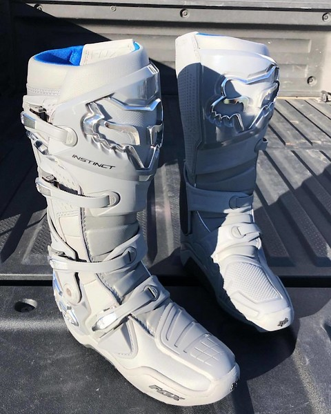 2018 Fox Racing Instinct Boots-Light Grey-10