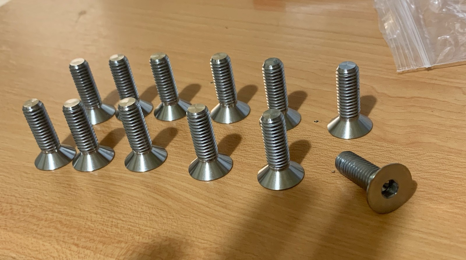 M8 Titanium Countersunk bolt grade 5 Ti machine screw - For Sale