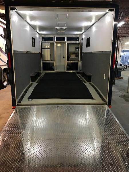 Cargo trailer DIY toy hauler - Moto