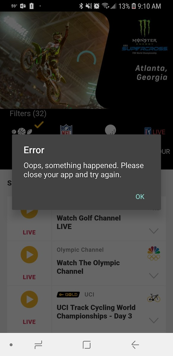 NBC gold website stream not working - Moto-Related - Motocross