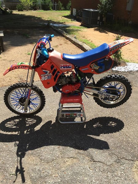 Craigslist of the Day: 1985 CR80 (warning: graphic content