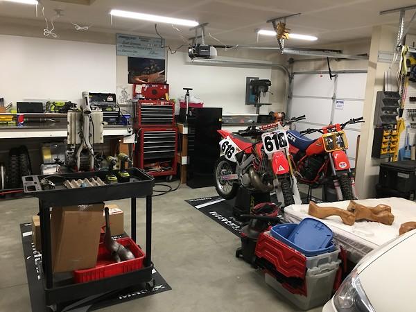 Show us your garage shop setup moto related motocross forums