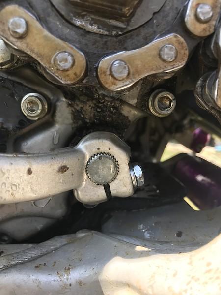 Broken chain, leaking countershaft seal  - Tech Help/Race