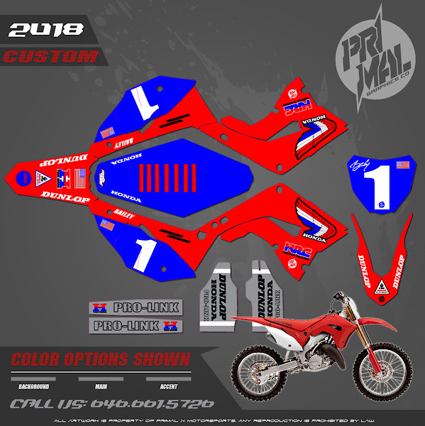 Graphics for new Polisport CR restyle kit - Moto-Related