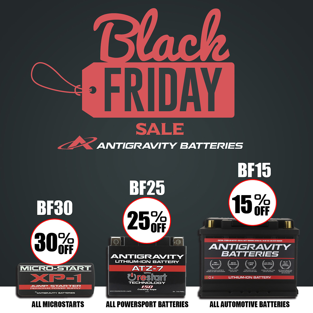 Biggest Black Friday Sale Ever By Antigravity Batteries For All Ya Moto Folks Moto Related Motocross Forums Message Boards Vital Mx