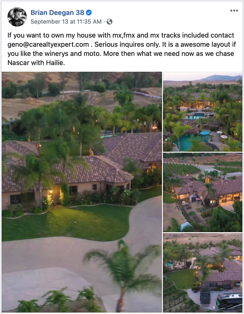 Deegan S House For Sale Moto Related Motocross Forums Message Boards Vital Mx