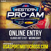 AMA Western Pro-AM Nov 3rd and 4th. Double Pro Points & 2-stroke Challenge.