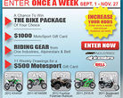 MotoSport.com Ultimate Ride Giveaway 2 Sweepstakes
