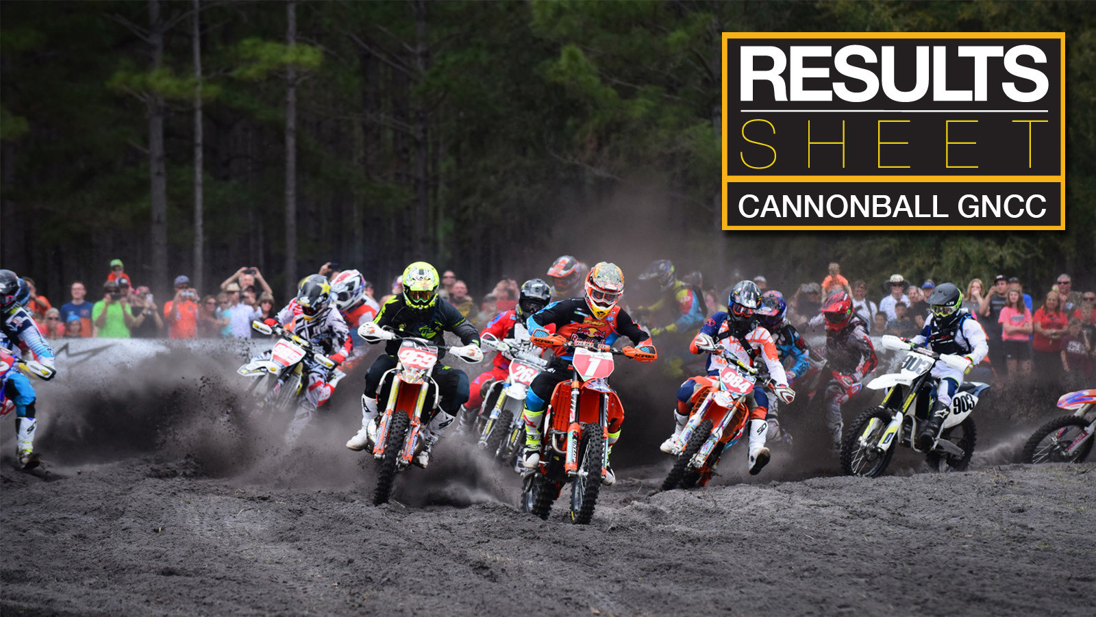 Results Sheet: Cannonball GNCC