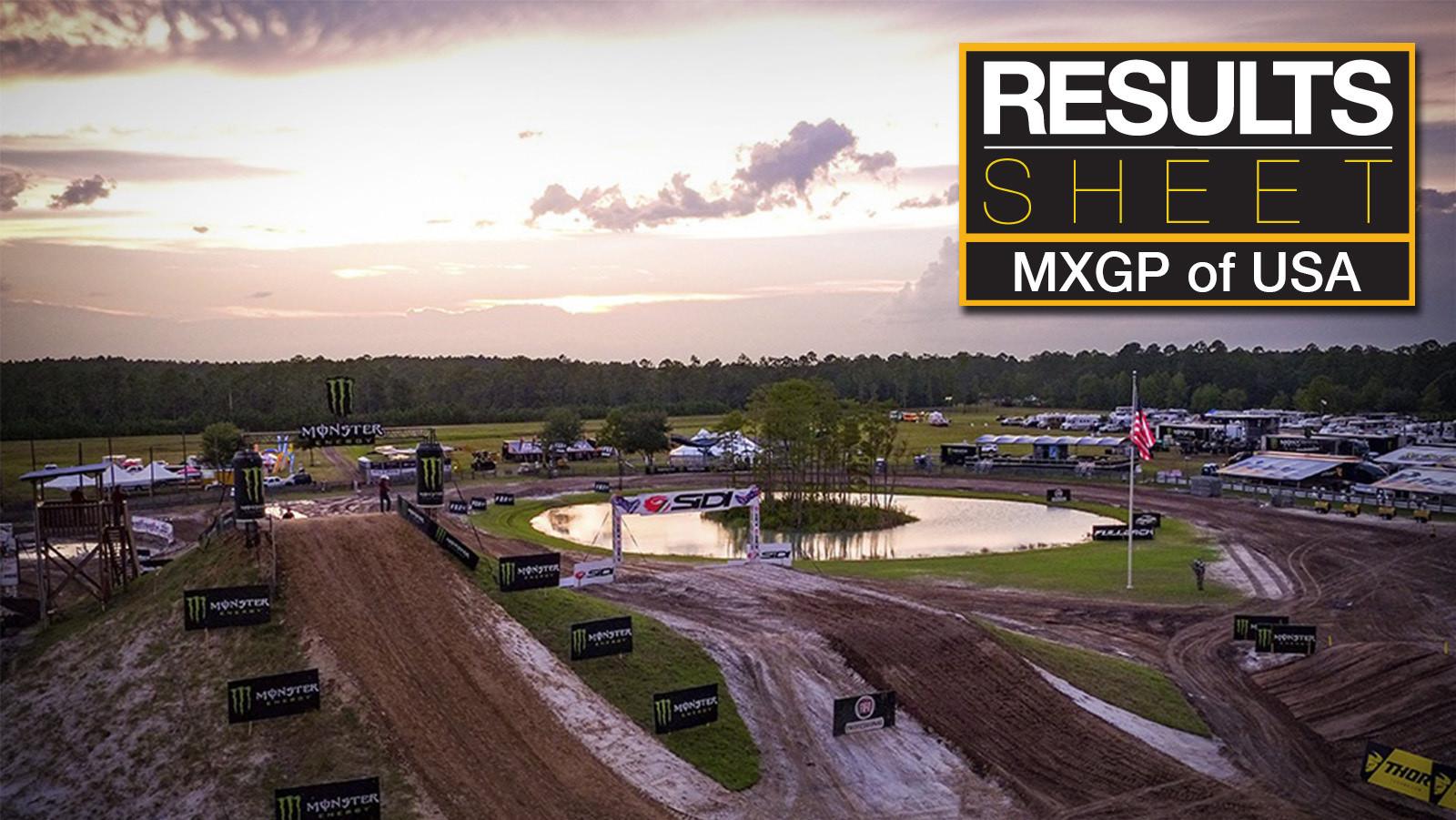 Results Sheet: 2017 MXGP of USA - Saturday