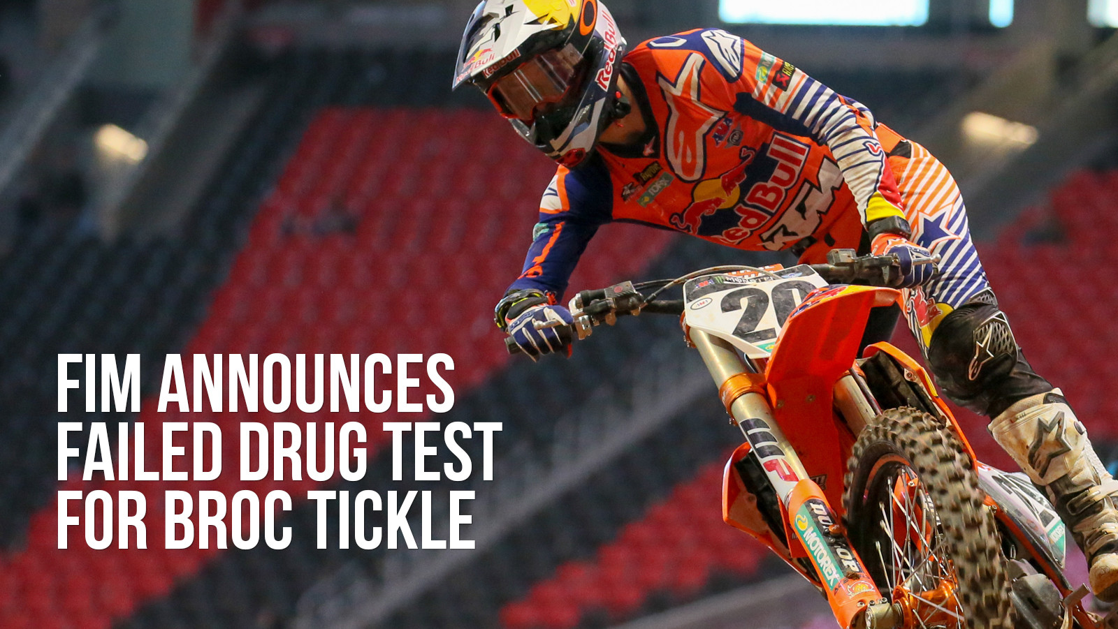 FIM Announces Failed WADA Drug Test for Broc Tickle