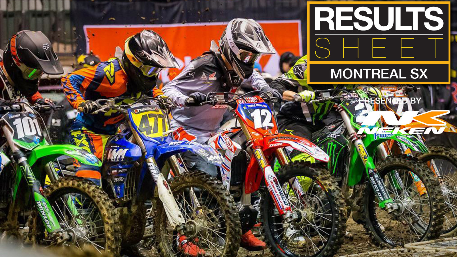 Results Sheet: 2018 Montreal Supercross