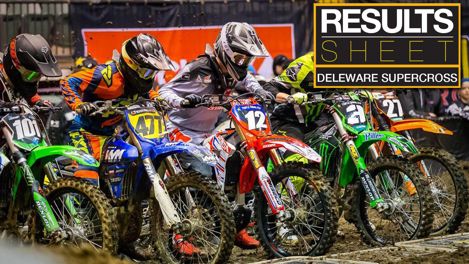 Results Sheet: 2018 Deleware Supercross