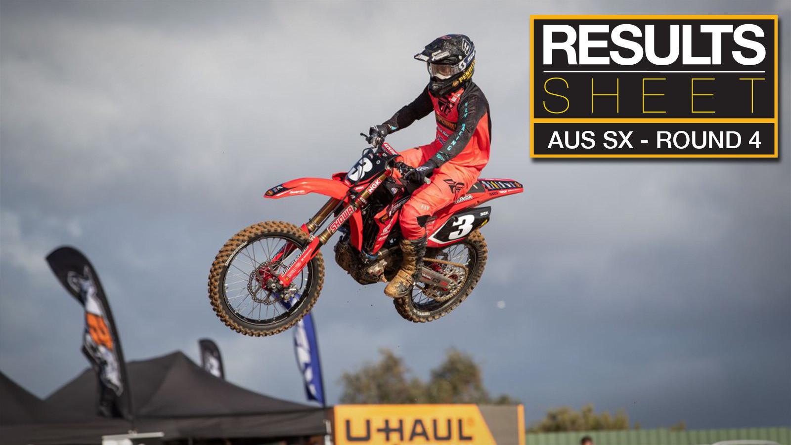 Results Sheet: 2019 Australian Supercross Championship - Round 4