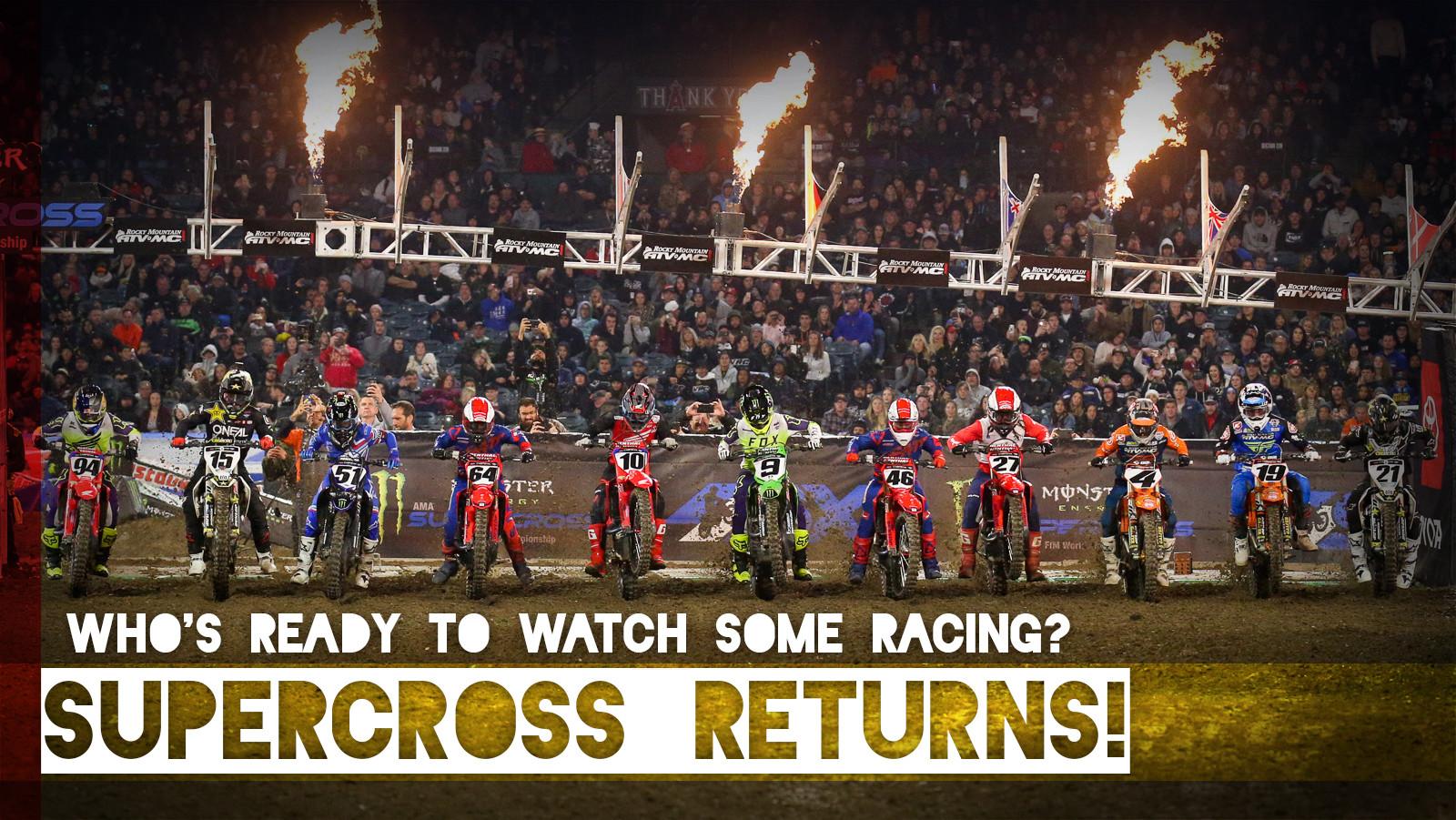 Monster Energy Supercross Returns!