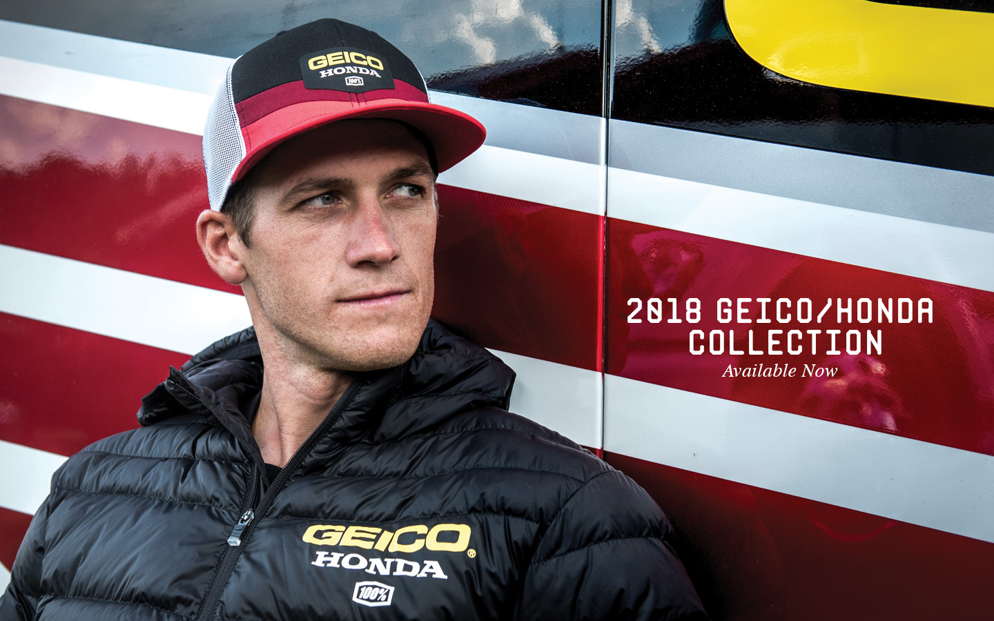100% Releases Official Geico Honda Team apparel