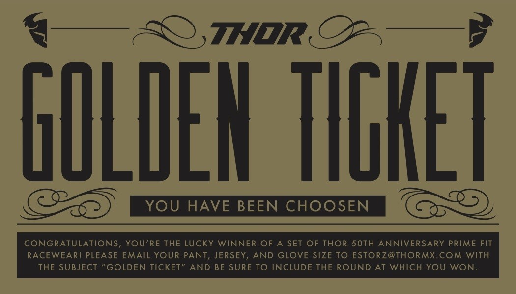 Thor MX Golden Ticket Supercross Giveaway
