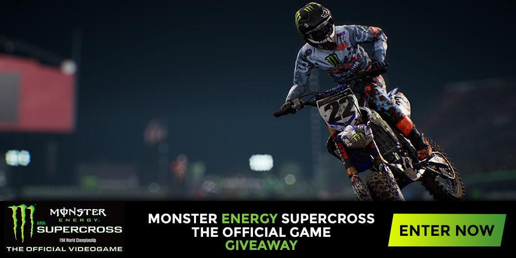 monster energy supercross the video game giveaway. Black Bedroom Furniture Sets. Home Design Ideas