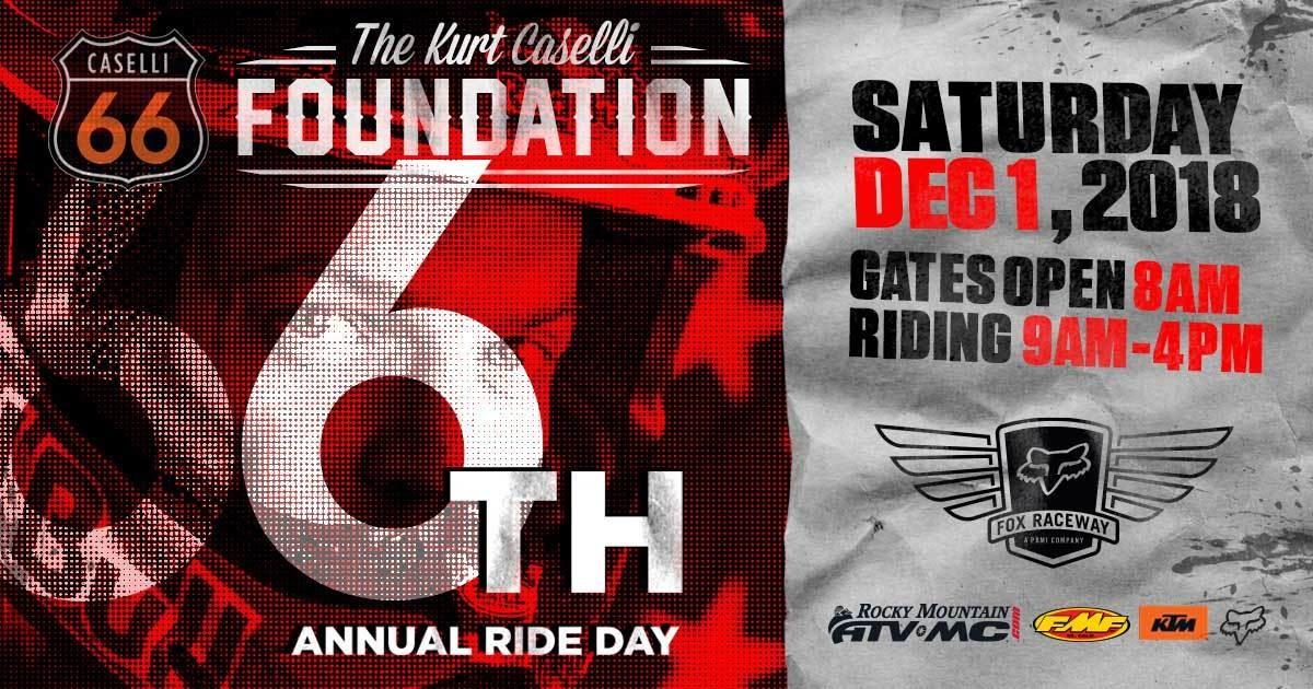 6th Annual Kurt Caselli Ride Day - Saturday, December 1, 2018