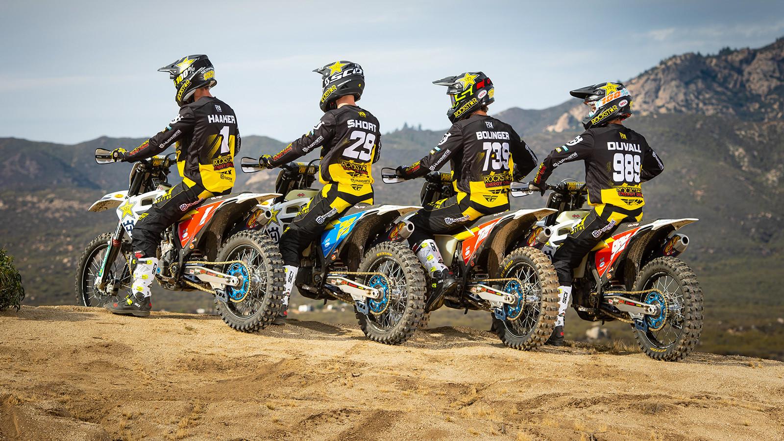 2019 Rockstar Energy Husqvarna US Off-Road Team: Andrew Short, Colton Haaker, Thad Duvall and Trevor Bollinger