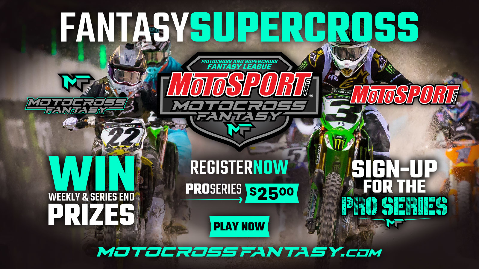 Win Prizes Throughout the 2019 Season by Playing Motocross Fantasy!