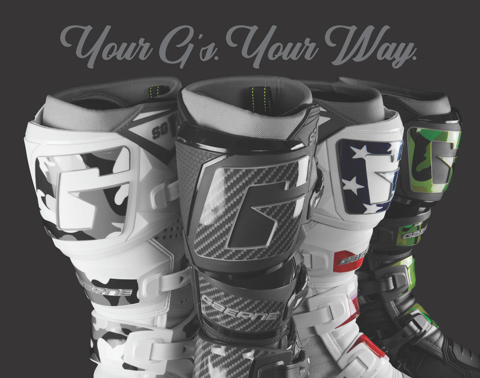 Gaerne SG-12 Boot Graphics Kits: Your Gs Your Way