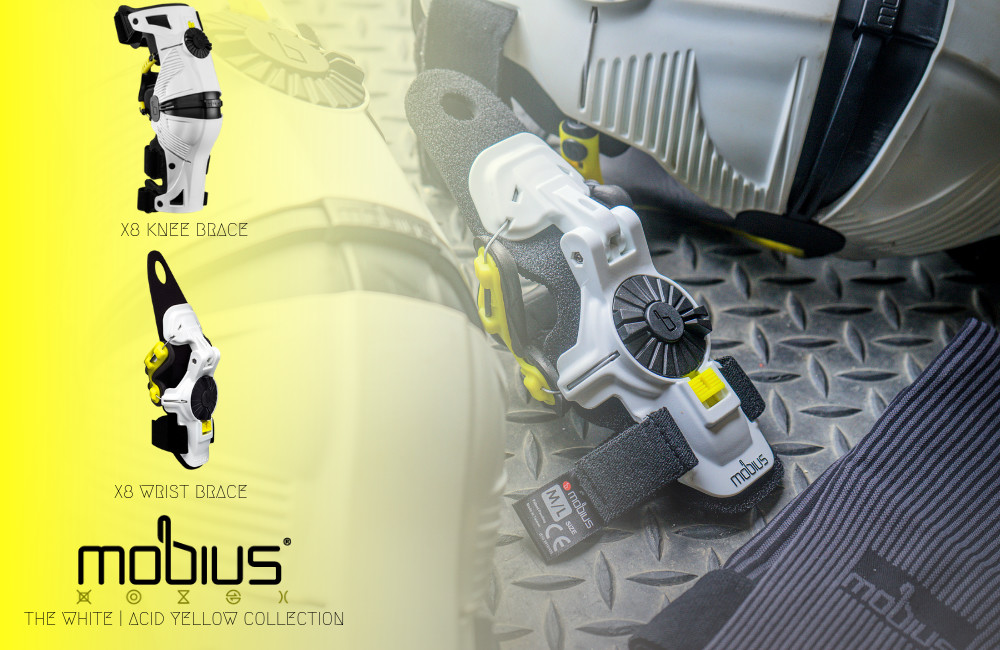 Mobius Braces | White / Acid Yellow Collection