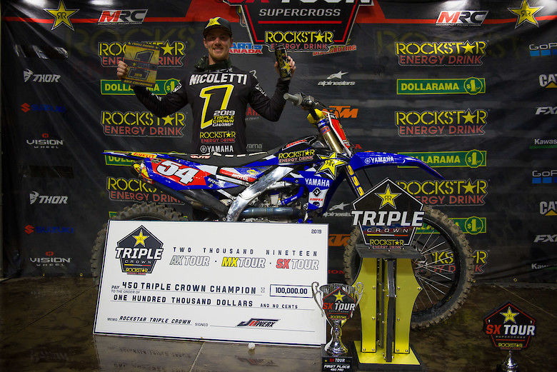 Pirelli Tire and Phil Nicoletti Capture 2019 Rockstar Energy Triple Crown Championship