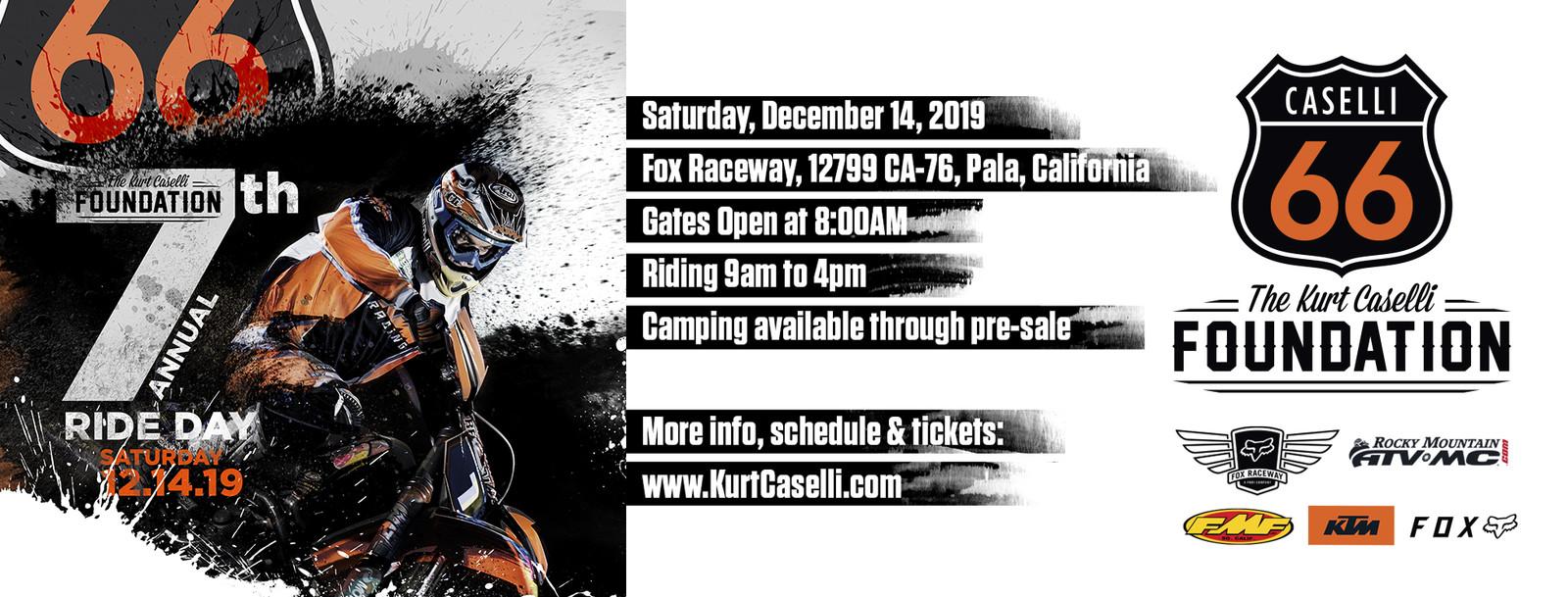 7th Annual Kurt Caselli Ride Day Details