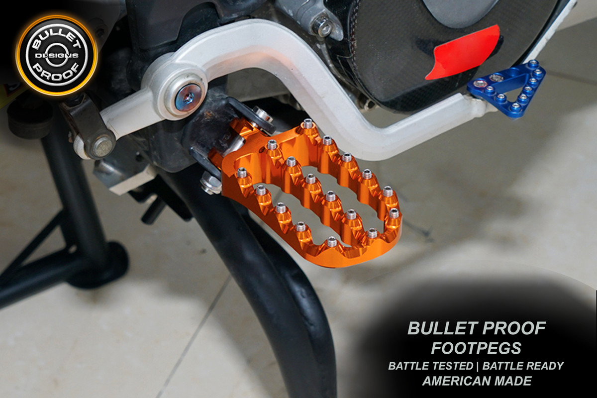 Bullet Proof Designs ADV Footpegs Now Available