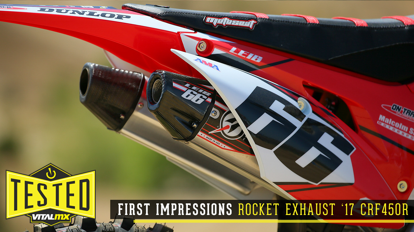 First Impressions: Rocket Exhaust - 2017 CRF450R Full System