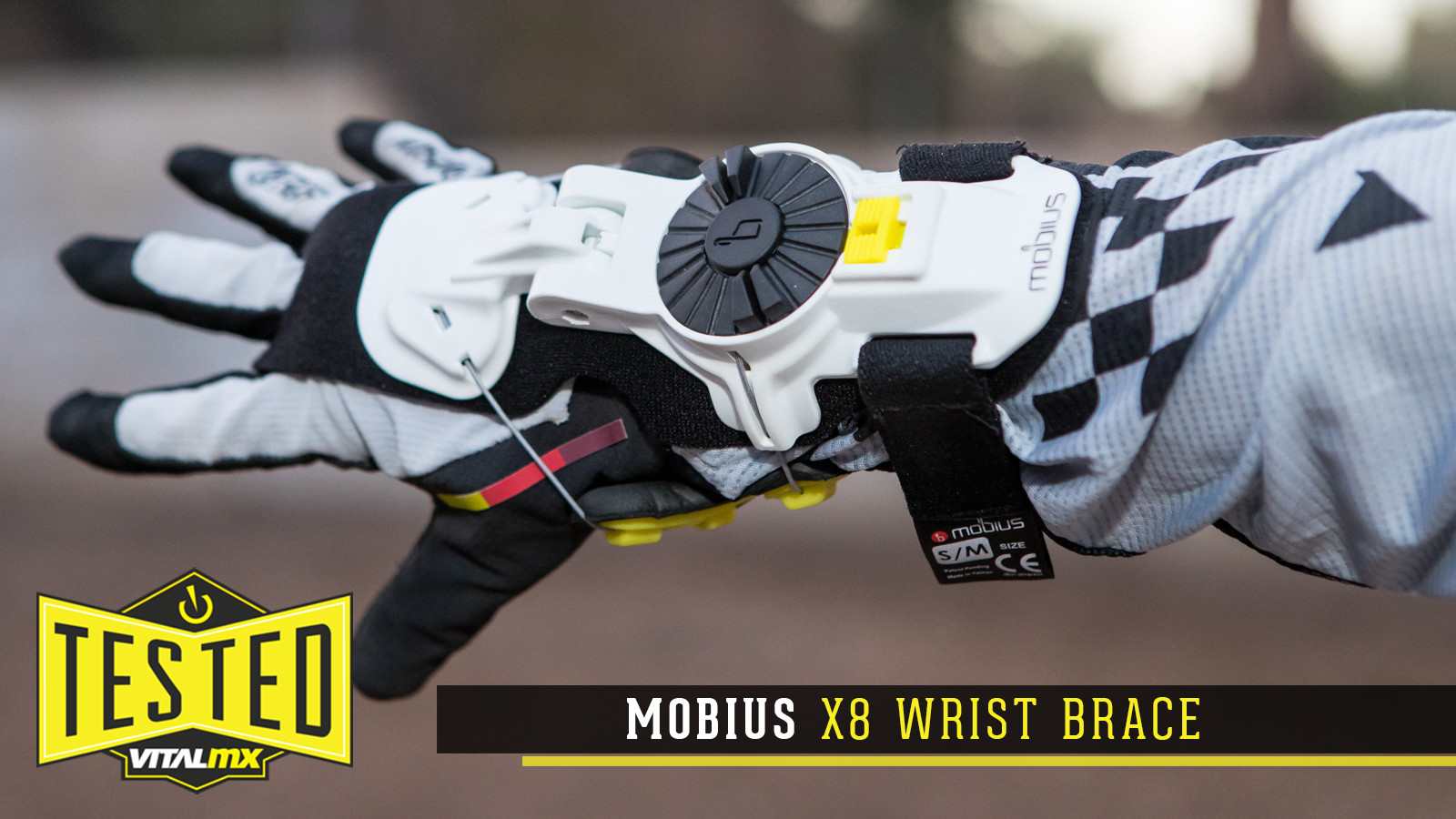 Mobius X8 Wrist Brace Replacement 2 Hole Liner Black