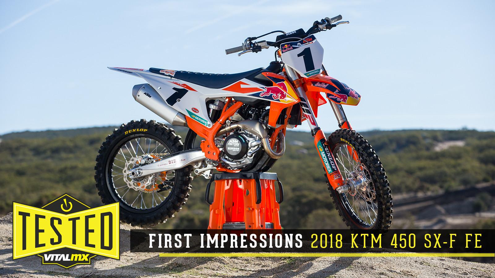 2018 Ktm 450 Sx F Factory Edition Reviews Comparisons Specs Motocross Dirt Bike Bikes Vital Mx