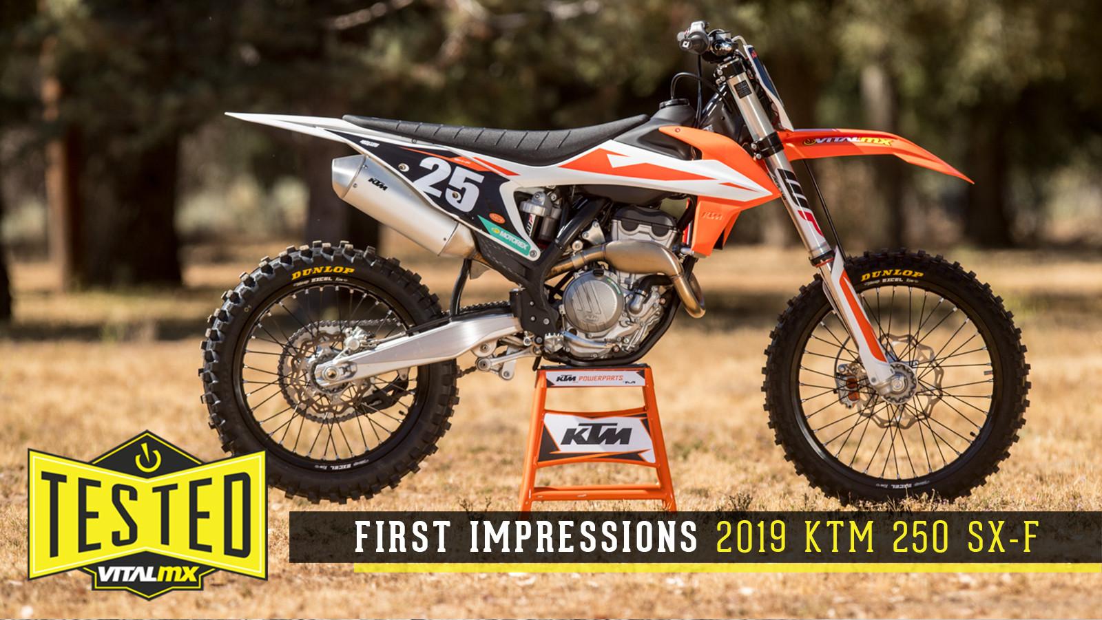 First Impressions: 2019 KTM 250 SX-F